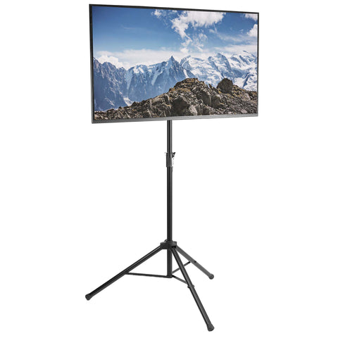 "STAND-TV55T <br><br><span style=font-weight:normal;>Black Tripod TV Display Floor Stand Height Adjustable Mount for 32"" to 55"" Flat Screens </span>"