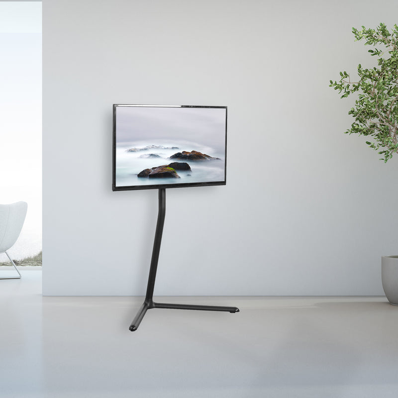 Black V-Base Studio TV Stand