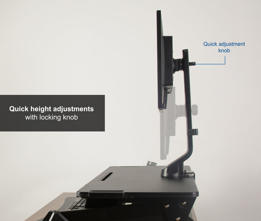 STAND-V001U <br><br>Single Monitor Desk Riser Mount for 17