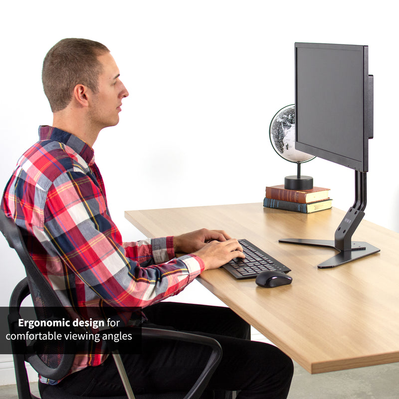 STAND-V001D <br><br>Single Monitor Desk Stand