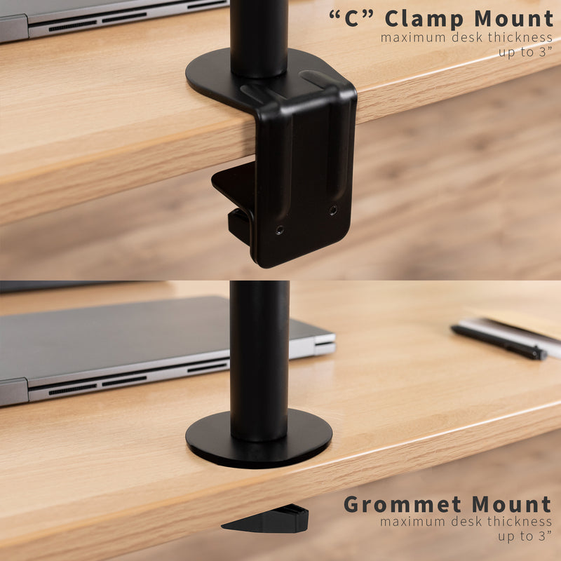 STAND-V001K <br><br>Pneumatic Arm Single Monitor Desk Mount