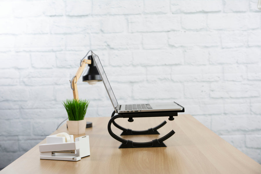 STAND-V001N <br><br>Black Laptop Desk Stand