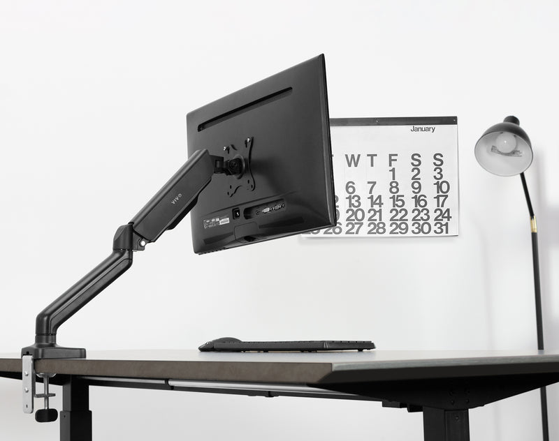 STAND-V001O <br><br>Pneumatic Arm Single Monitor Desk Mount