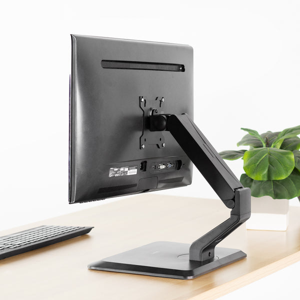 STAND-V001R <br><br>Pneumatic Arm Monitor & Touch Screen Desk Stand