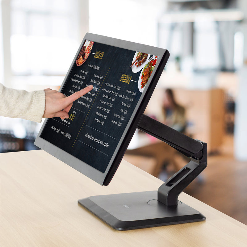 Pneumatic Arm Monitor & Touch Screen Desk Stand