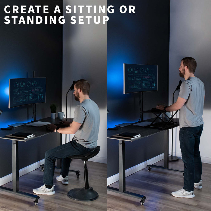 STAND-V001T <br><br>Single Monitor Extra Tall Desk Mount