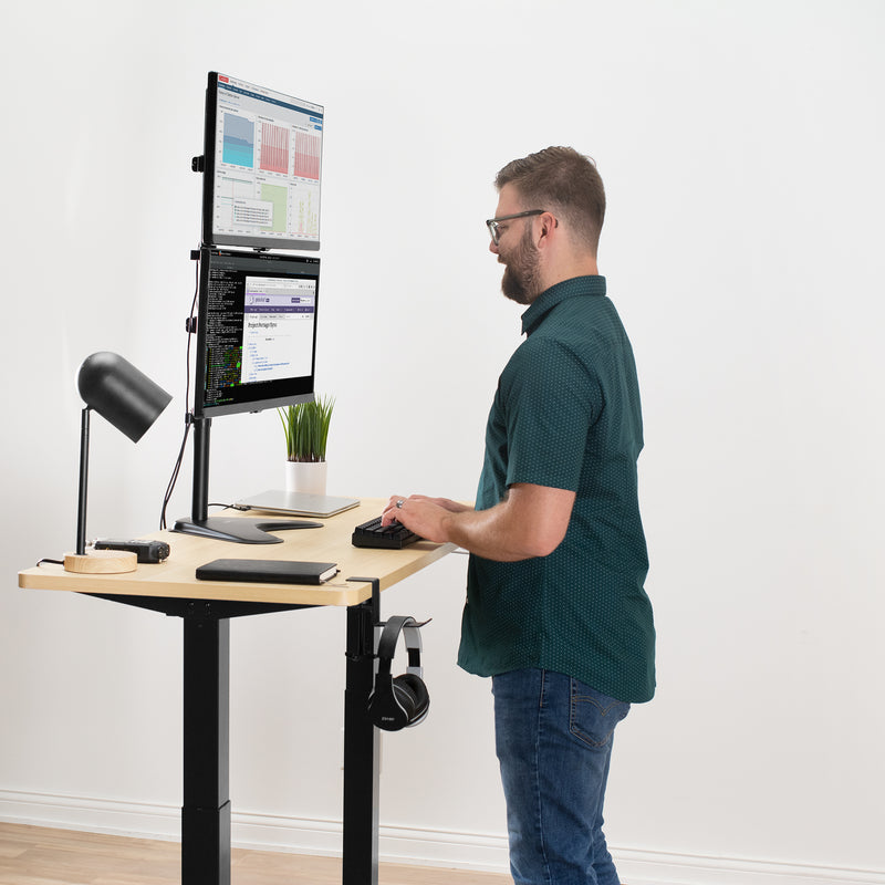 Dual Monitor Vertical Stand