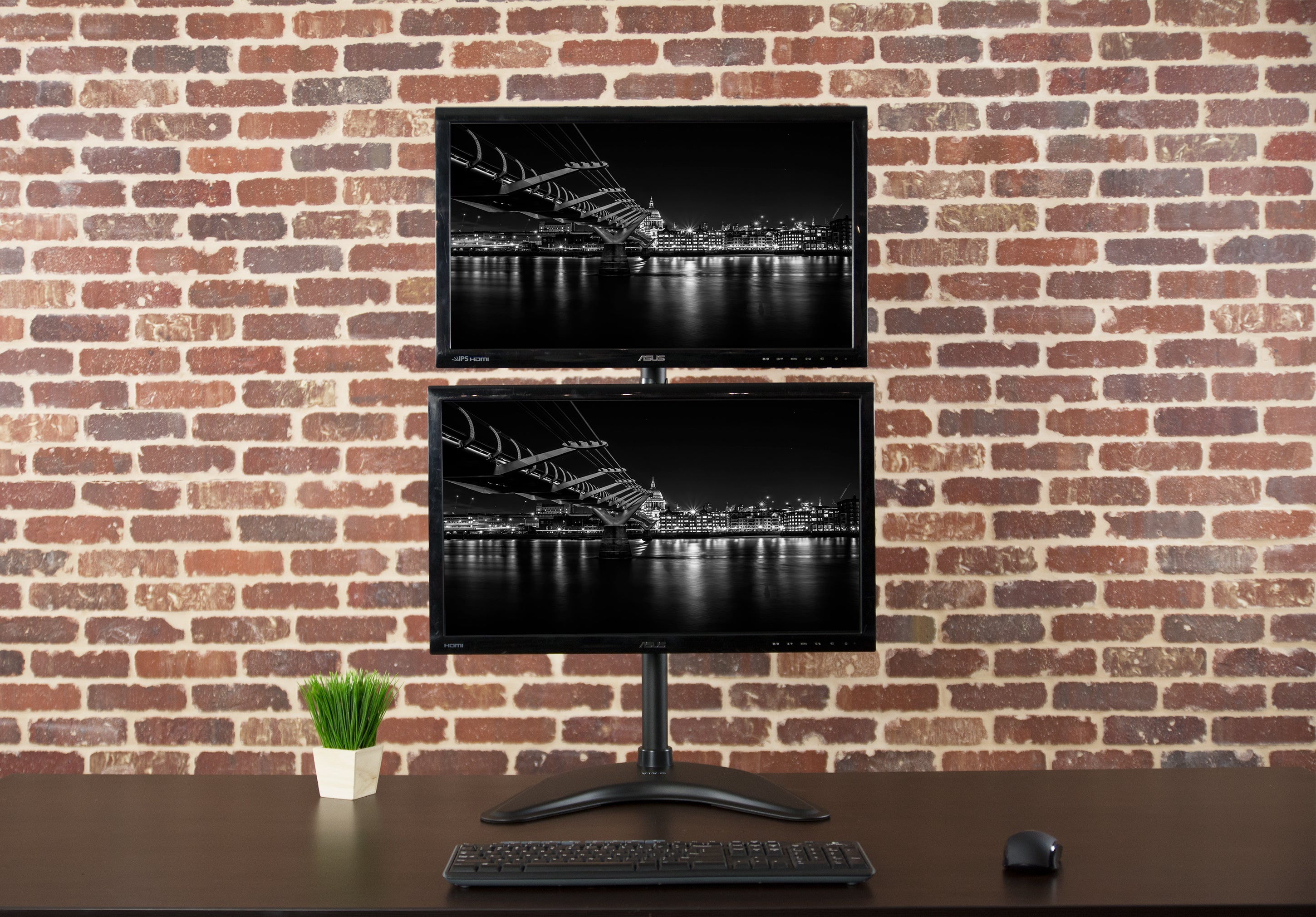 Stand V002n Vertical Dual Monitor Stand Vivous