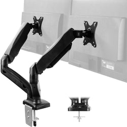 STAND-V002O <br><br>Pneumatic Arm Dual Monitor Desk Mount