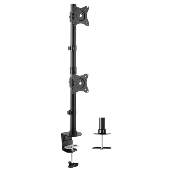 STAND-V002R <br><br>Dual Vertical Monitor Desk Mount