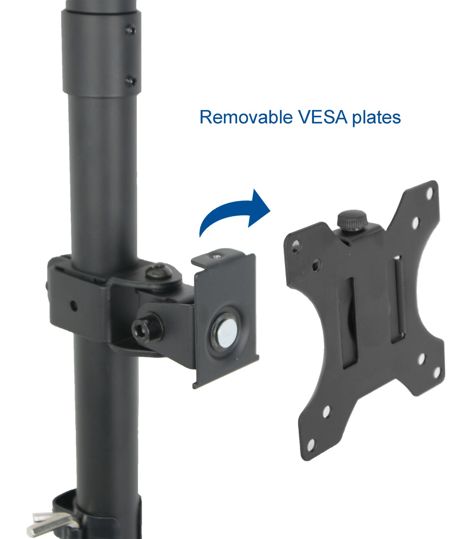 STAND-V002T <br><br>Dual Monitor Vertical Desk Mount for 13