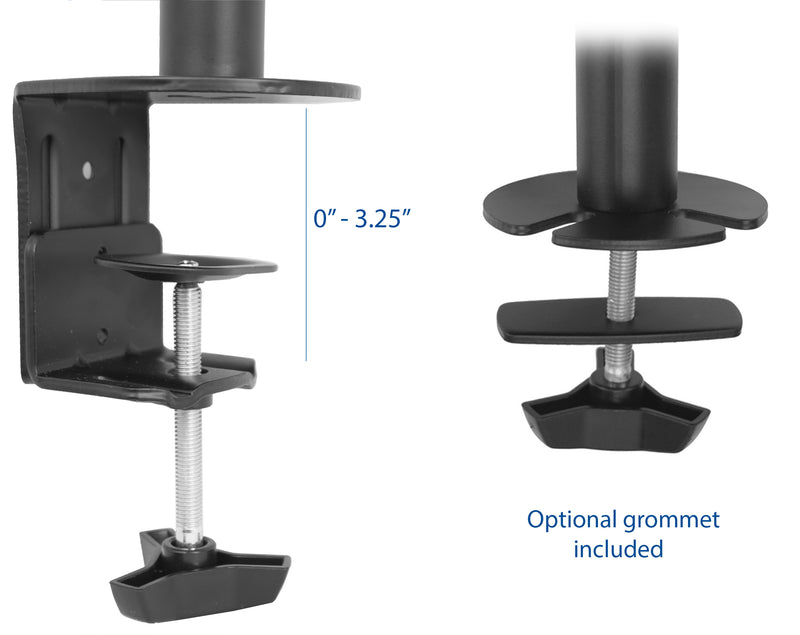 STAND-V002T <br><br>Dual Monitor Desk Mount