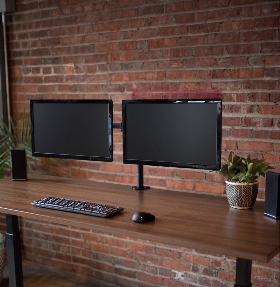 STAND-V002 <br><br>Dual Monitor Desk Mount for 13