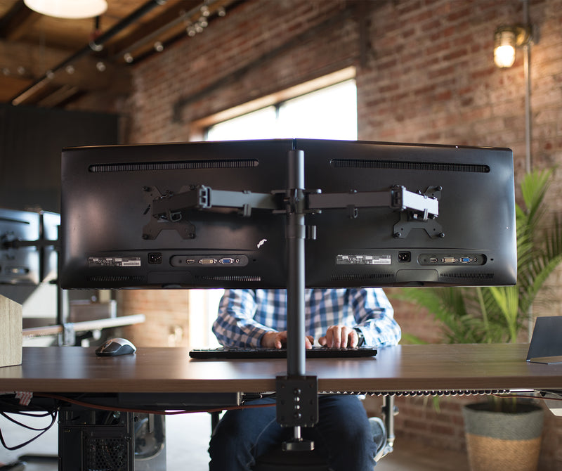 STAND-V002 <br><br>Dual Monitor Desk Mount