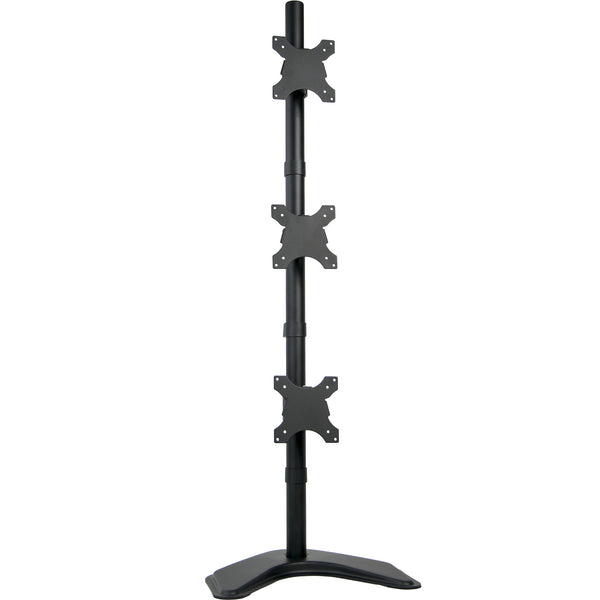 Triple Vertical Monitor Desk Stand