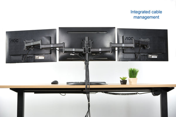 STAND-V003P<br><br><span style=font-weight:normal;>Triple Monitor Stand</span>