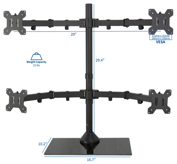 Quad Monitor Desk Stand