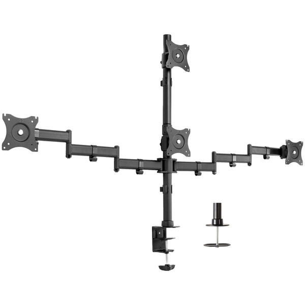 STAND-V004Y <br><br>Quad Monitor Desk Mount