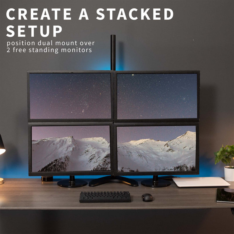 Dual Monitor Extra Tall Desk Stand