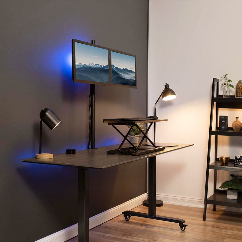 Dual Monitor Extra Tall Desk Mount