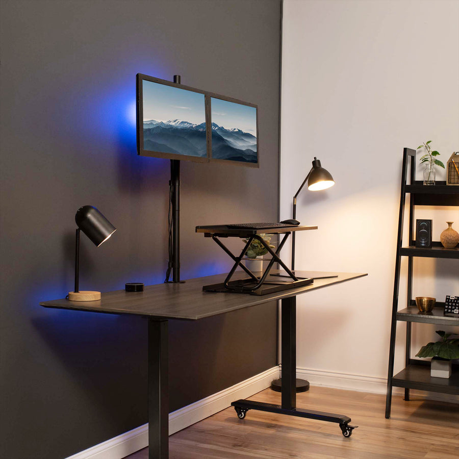 STAND-V012 <br><br>Dual Monitor Extra Tall Desk Mount for 13