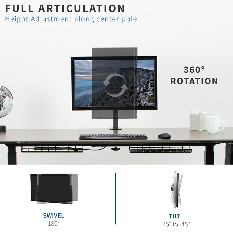 Single Monitor Desk Mount