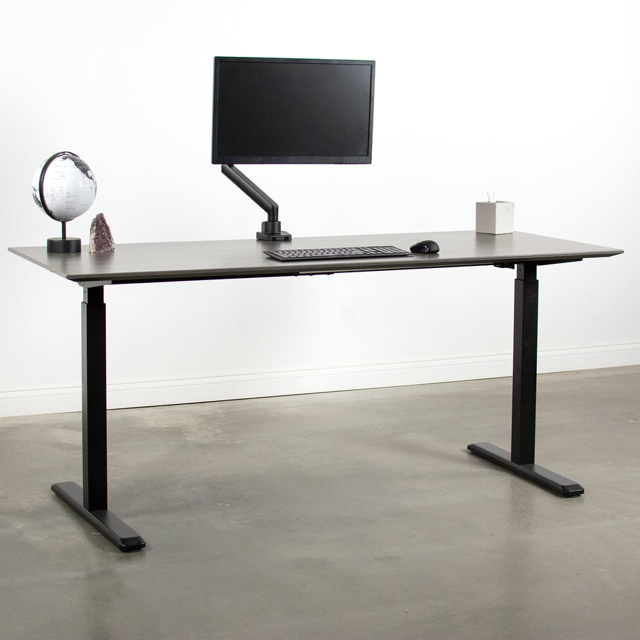 STAND-V101BB<br><br>Aluminum Single Monitor Desk Stand for 17