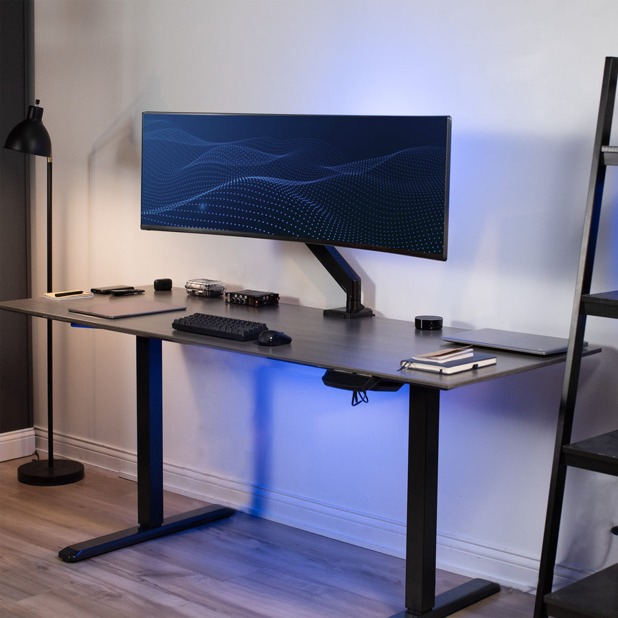 STAND-V101G1<br><br>Aluminum Single Monitor Desk Stand for 17