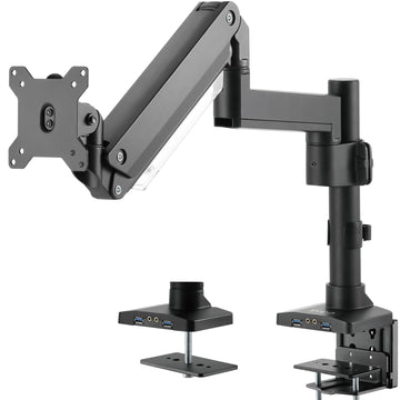 STAND-V101GTU<br><br>Pneumatic Arm Single Monitor Desk Mount with USB