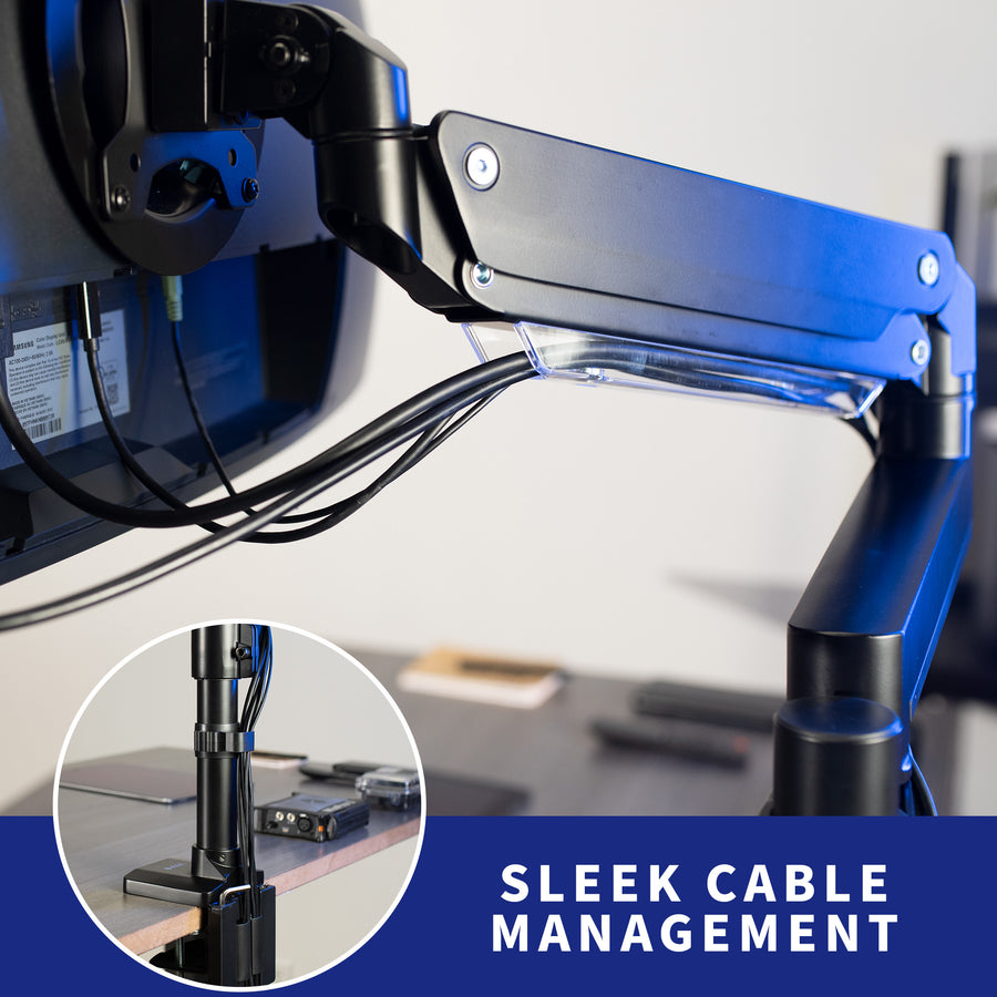 STAND-V101GT<br><br>Aluminum Extension Single Monitor Desk Stand for 17