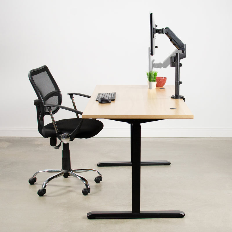 STAND-V101H<br><br>Pneumatic Arm Single Monitor Desk Mount
