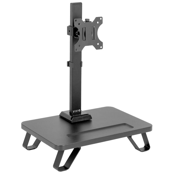Single Monitor Desk Stand with Riser