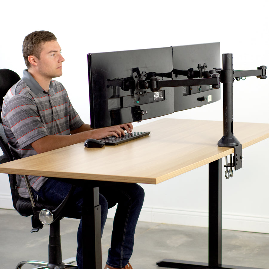 STAND-V102AM<br><br>Dual Monitor Desk Mount for 13