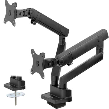 STAND-V102BB<br><br>Aluminum Dual Monitor Desk Stand with Lift Engine Arm for 17