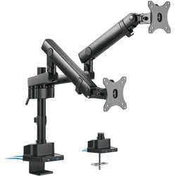 STAND-V102BDU<br><br>Pneumatic Arm Dual Monitor Desk Mount with USB