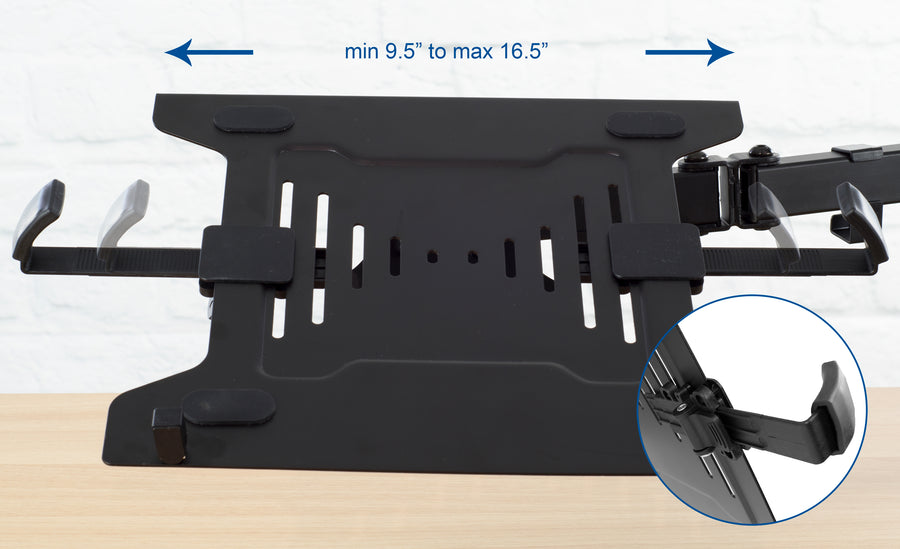 STAND-V102C <br><br>Laptop and Monitor Desk Mount for a 13