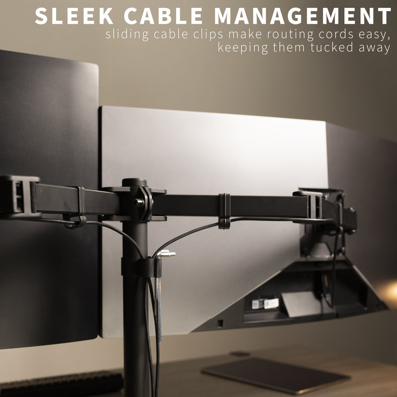Dual Monitor Desk Mount viewing angles