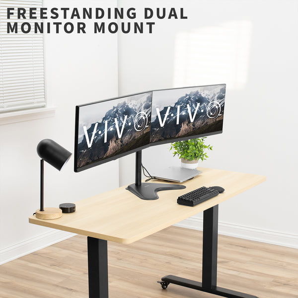 Dual Monitor Desk Stand