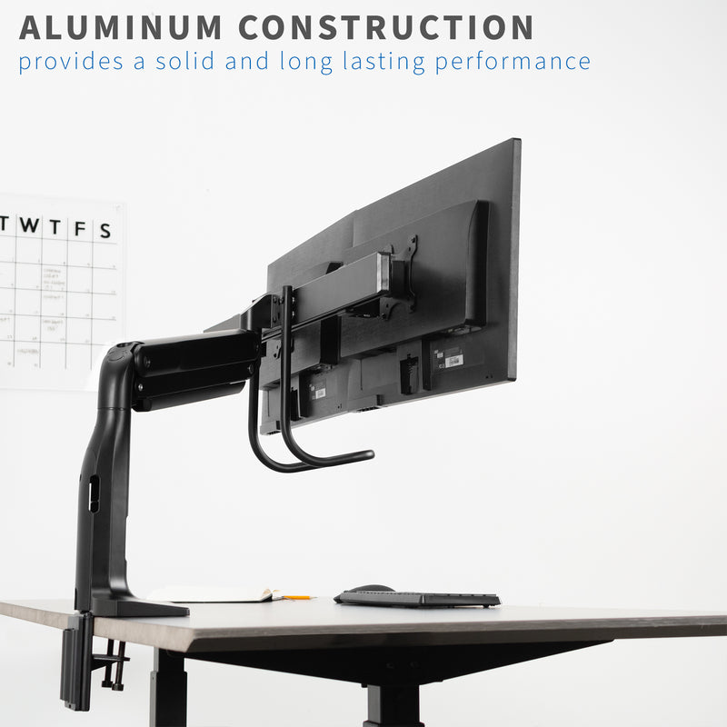 Dual Monitor Desk Mount with Pull Handle