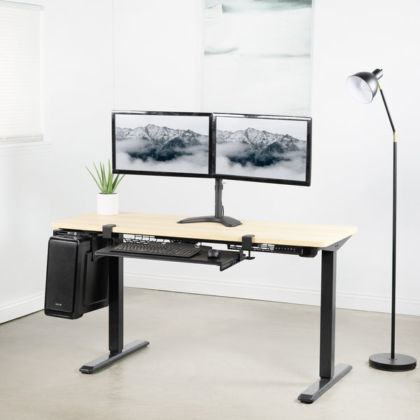 STAND-V102K<br><br>Dual Monitor Desk Stand