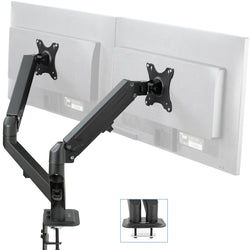 STAND-V102O <br><br>Pneumatic Arm Dual Monitor Desk Mount