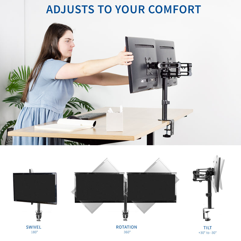 Dual Monitor Desk Mount