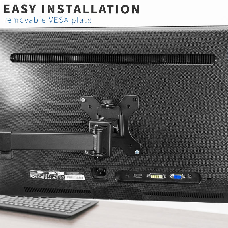 removable vesa plate easy installation