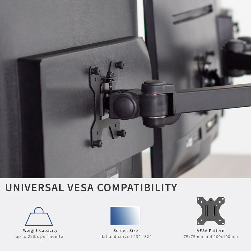 STAND-V106A<br><br>Hex Monitor Desk Mount