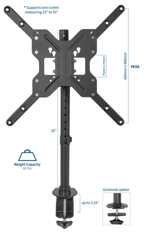 "STAND-V155C <br><br>Wide Screen Mount for 23"" to 55"" TVs"