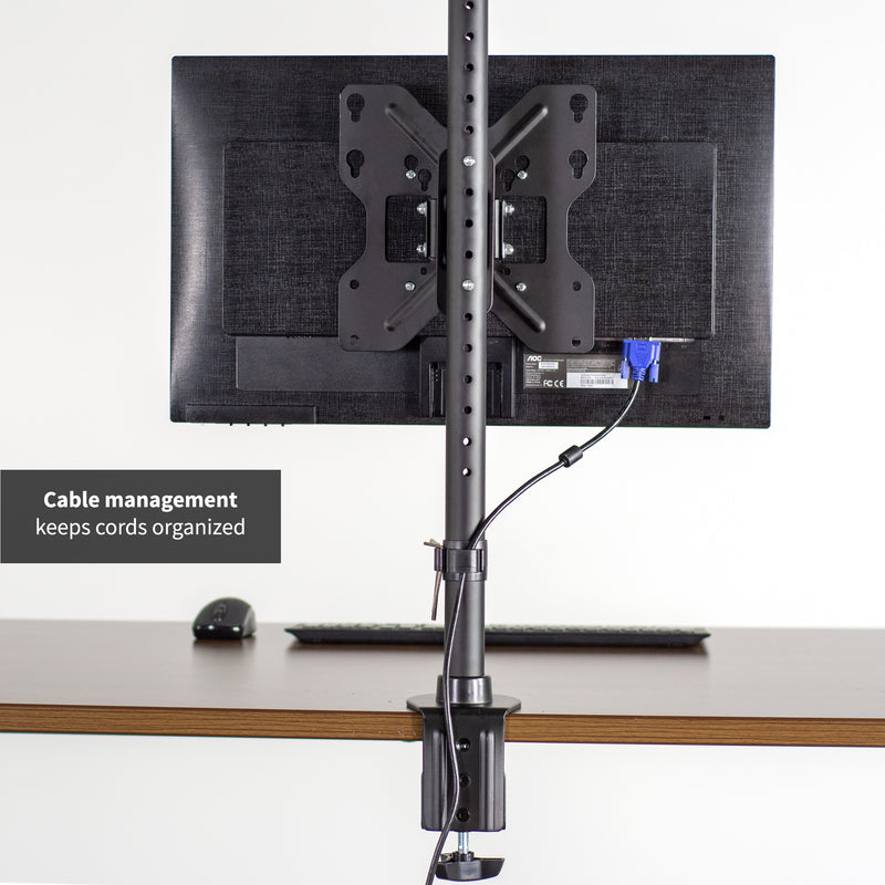Single Wide Screen TV Desk Mount