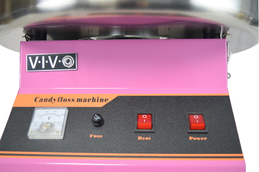 Pink Electric Commercial Cotton Candy Machine buttons