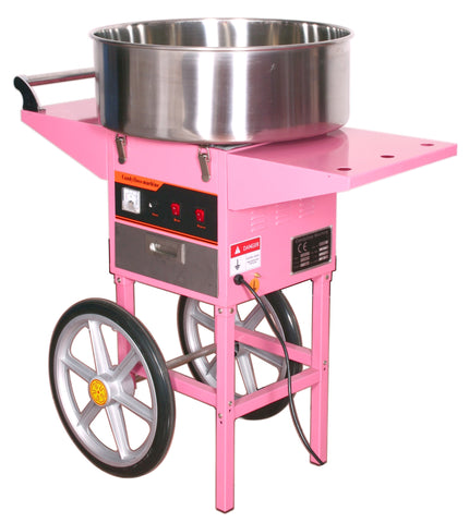 CANDY-V002 <br><br><span style=font-weight:normal;>Electric Commercial Cotton Candy Machine and Cart</span>