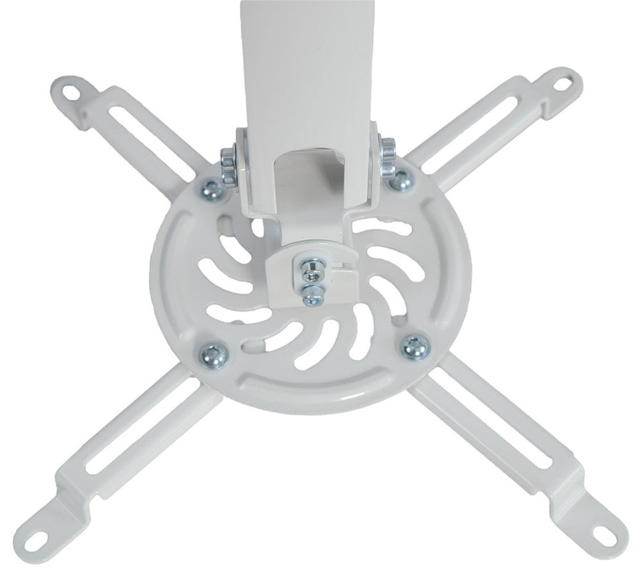 Universal Extended Ceiling Projector Mount in white