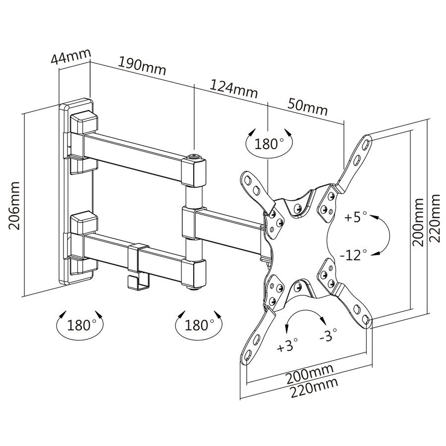 TV Wall Mount for 13 to 42 inch TV